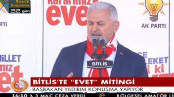 Bitlis'te halka seslenen Başbakan Binali Yıldırım önemli açıklamalarda bulundu