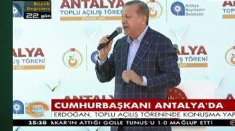 Antalya'da halka seslenen Cumhurbaşkanı Recep Tayyip Erdoğan muhalefete yüklendi ve çarpıcı açıklama