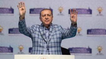 Cumhurbaşkanı Recep Tayyip Erdoğan, AK Parti'nin İstanbul'da gerçekleştirdiği bayramlaşma programınd