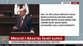 Cumhurbaşkanı Erdoğan konuşmasında, 'Buradan tüm Müslümanlara çağrım, lütfen oraları ziyaret etsinle