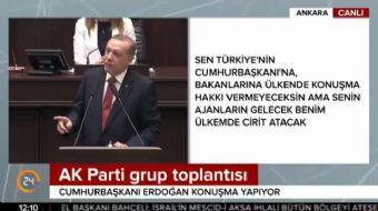 AK Parti grup toplantısında konuşma yapan Cumhurbaşkanı Erdoğan, '100 yılı aşkın süredir Türkiye'de