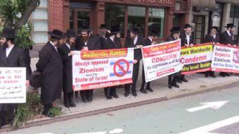 İsrail karşıtı Ortodoks Yahudiler, BM binası önünde İsrail'in Mescid-i Aksa'ya yönelik ihlallerine t
