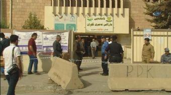 Irak Kürt Bölgesel Yönetimi'nde seçmen sandık başına giderek oy kullandı.