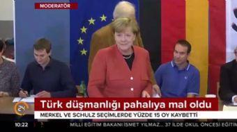 Merkel'in Türk düşmanlığı oy kaybettirdi
