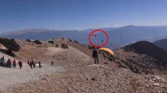 Muğla'nın Fethiye ilçesinde, Babadağ'dan yamaç paraşütüyle tekli atlayış yapan Rus pilot, yaklaşık 7