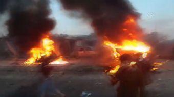 Türkiye-Suriye sınırında bombalı saldırı! Ölü ve yaralılar var... Saldırı anı kamerada