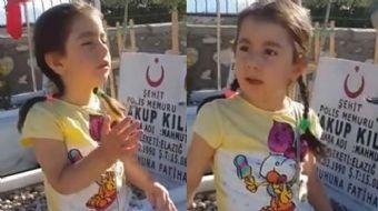 Elazığ'da şehit babasının kabrini ziyaret eden 4 yaşındaki Şeyma'nın 'Baba, baba... Anne beni duymuy