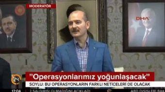 İçişleri Bakanı Süleyman Soylu, terör operasyonlarına ilişkin, 'Şunu çok net söyleyeyim; önümüzdeki