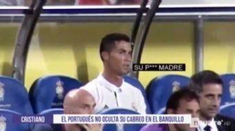 Las Palmas ma��nda Zidane'�n 72. dakikada oyundan ��kard��� Cristiano Ronaldo kul�beye ge�tikten son