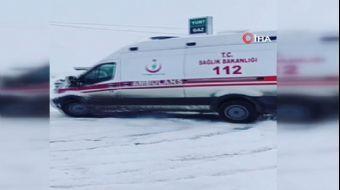 Ambulansla Karlı Zeminde Drift Yaptılar!