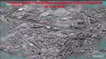 Milli İHAların gözünden deprem bölgesi