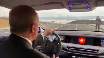Başkan Recep Tayyip Erdoğan Türkiye'nin Otomobilini Test Etti