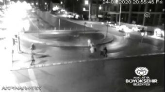 Malatya'da Deprem Anı MOBESE Kameralarına Yansıdı