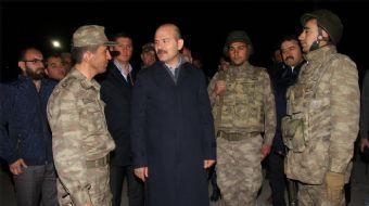 İçişleri Bakanı Süleyman Soylu, Doğubayazıt ilçesi Tendürek Dağı'ndaki Çetenli Jandarma Karakolu'nda