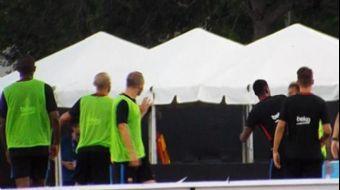 Barcelona'nın bugünkü antrenmanında Neymar ve Semedo yumruklaştı.