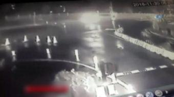 Sarıyer'de oyuncu Erdal Tosun'un hayatını kaybettiği kaza güvenlik kameralarına yansıdı.