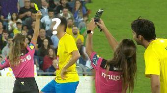 Kadın Hakem, Ünlü Futbolcuyla Selfie Çekebilmek İçin Sarı Kart Gösterdi