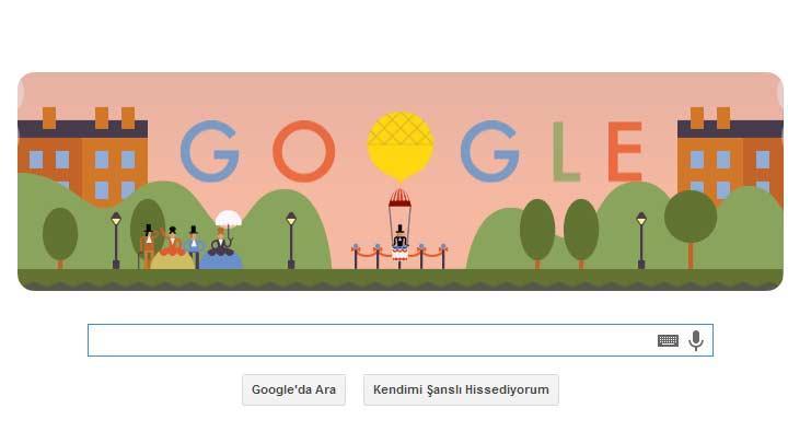 "Google'dan André-Jacques Garnerin'e özel doodle! André-Jacques Garnerin kimdir"""