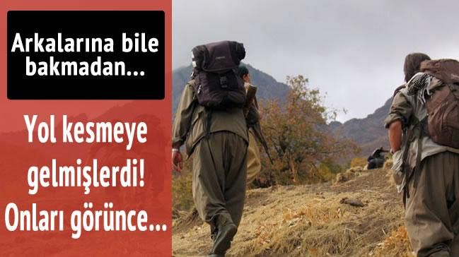 Yol kesen PKK�l�lar korucularla �at��t�