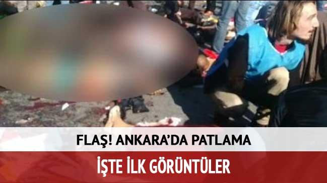 Ankara'daki patlamadan ilk g�r�nt�ler