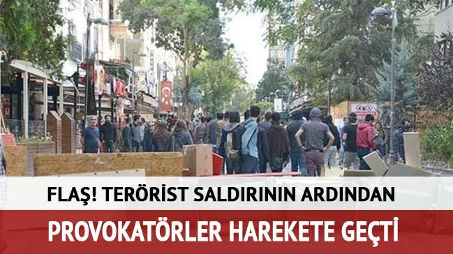 Ankara'daki ter�r sald�r�n�n ard�ndan b�y�k provokasyon