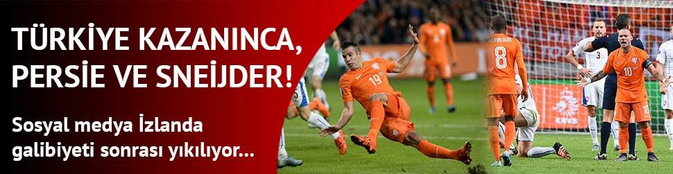 T�rkiye kazan�nca, Persie ve Sneijder...