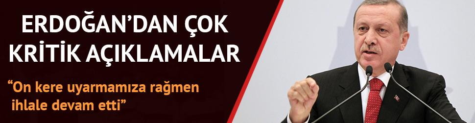 Cumhurba�kan� Erdo�an'dan g�ndeme dair �ok kritik a��klamalar