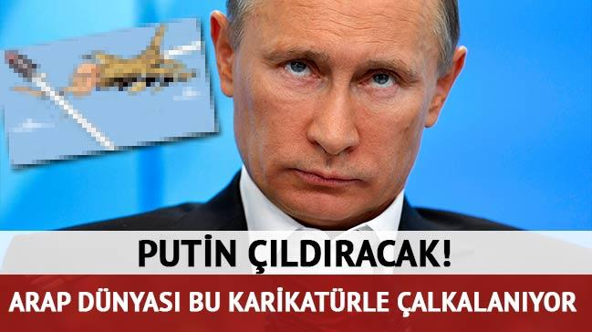 Arap medyas�ndan Putin'i ��ld�rtacak karikat�r