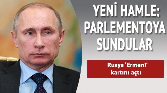 Ermeni tasar�s� Rus parlamentosuna sunuldu