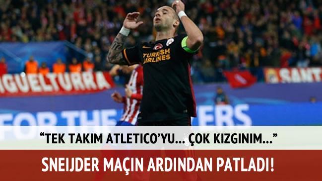 Wesley Sneijder patlad�! '�ok k�zg�n�m!'