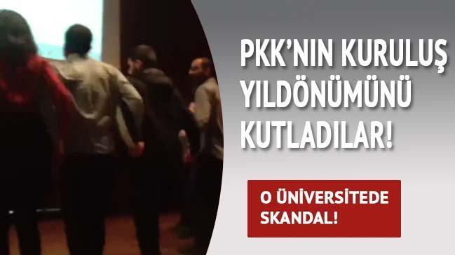 Bo�azi�i'nde PKK'n�n kurulu� y�l d�n�m� kutlamas�