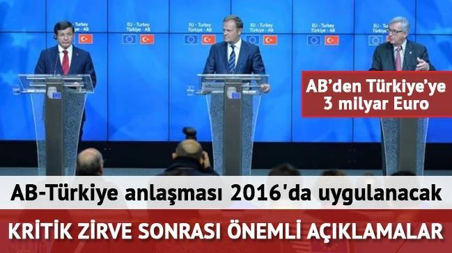 AB-T�rkiye anla�mas� 2016'da uygulanacak