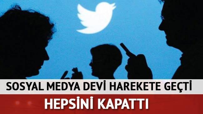 Twitter ter�rle ilgili 125 bin hesab� ask�ya ald�