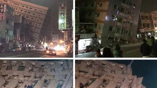 Tayvan'da �iddetli deprem! Sadece o noktada...