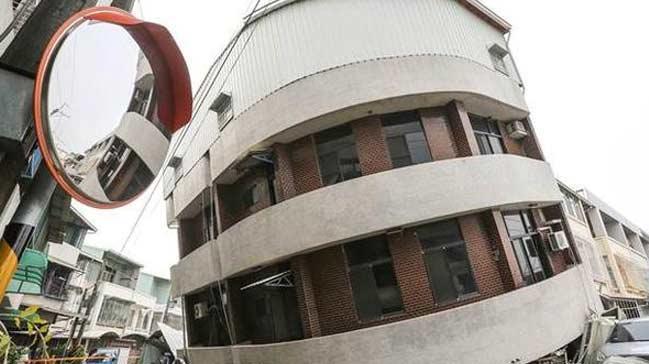 Tayvan'daki depremde korkutan bilan�o