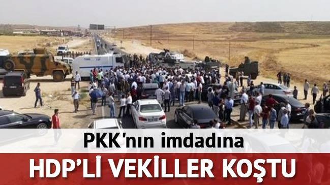 PKK'n�n imdad�na HDP'li vekiller ko�tu
