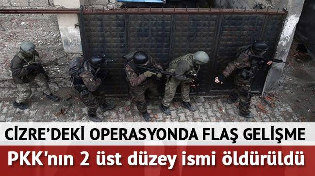 Cizre'de PKK'n�n 2 �st d�zey ismi �ld�r�ld�
