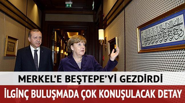 Erdo�an Merkel'i kabul etti
