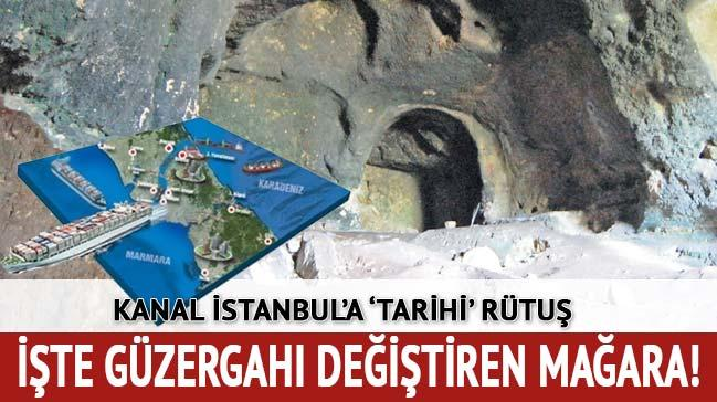 Kanal �stanbul�a g�zergah de�i�tiren 400 bin y�ll�k ma�ara!
