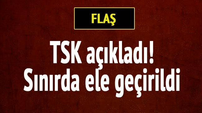 TSK: S�n�rda 4 adet canl� bomba yele�i ele ge�irildi