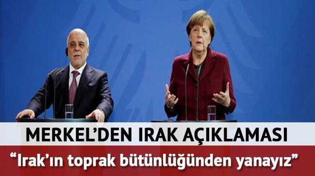 Merkel:  Irak��n toprak b�t�nl���nden yanay�z