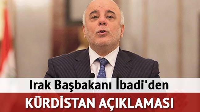 Irak Ba�bakan� �badi'den 'K�rdistan' a��klamas�!