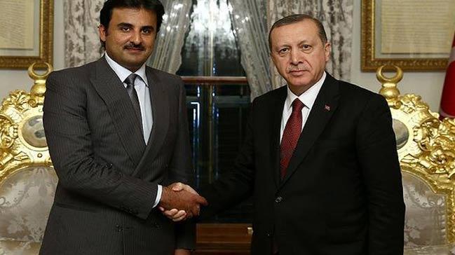 Katar Emiri, Erdo�an ve Davuto�lu ile g�r��t�