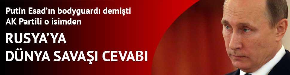 Mehmet Ali �ahin'den Rusya'ya cevap geldi!