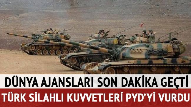 TSK, Suriye'deki PYD mevzilerini bombalad�