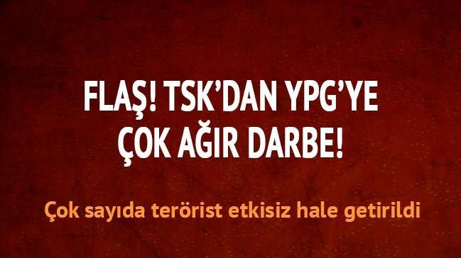 TSK'dan YPG'ye a��r darbe! En az 53 �l�