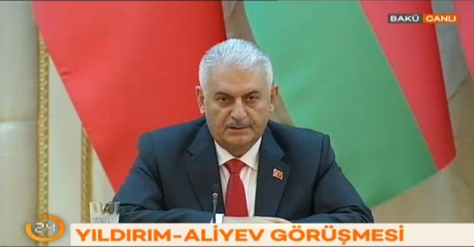 Başbakan Binali Yıldırım Azerbaycan'da