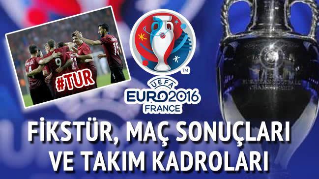 Euro 2016 fikst�r program ve tak�m kadrolar�