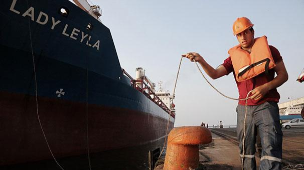 Gazze�ye yard�m g�t�recek Lady Leyla� Mersin Liman�nda