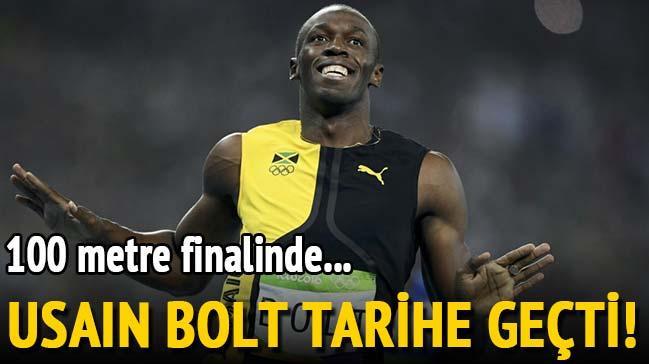 D�nyaca �nl� sprinter  Usain Bolt tarihe ge�ti!